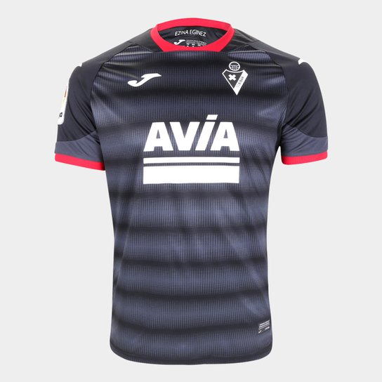 Camisa Eibar Third 20/21 s/n° Torcedor Joma Masculina - Preto+Cinza