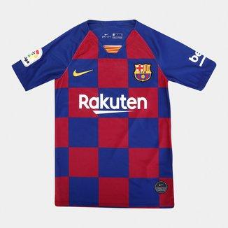 Camisa Infantil Barcelona Home 19/20 s/nº Torcedor Nike