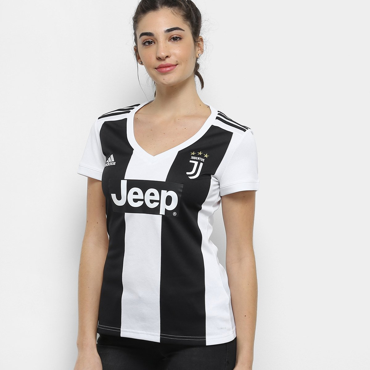 Camisa Juventus Home 2018 s n° - Torcedor Adidas Feminina - Preto e ... bbe0a2549f834