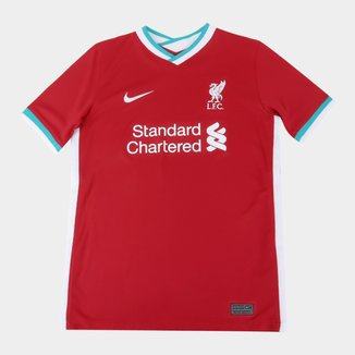 Camisa Liverpool Juvenil Home 20/21 s/n° Torcedor Nike