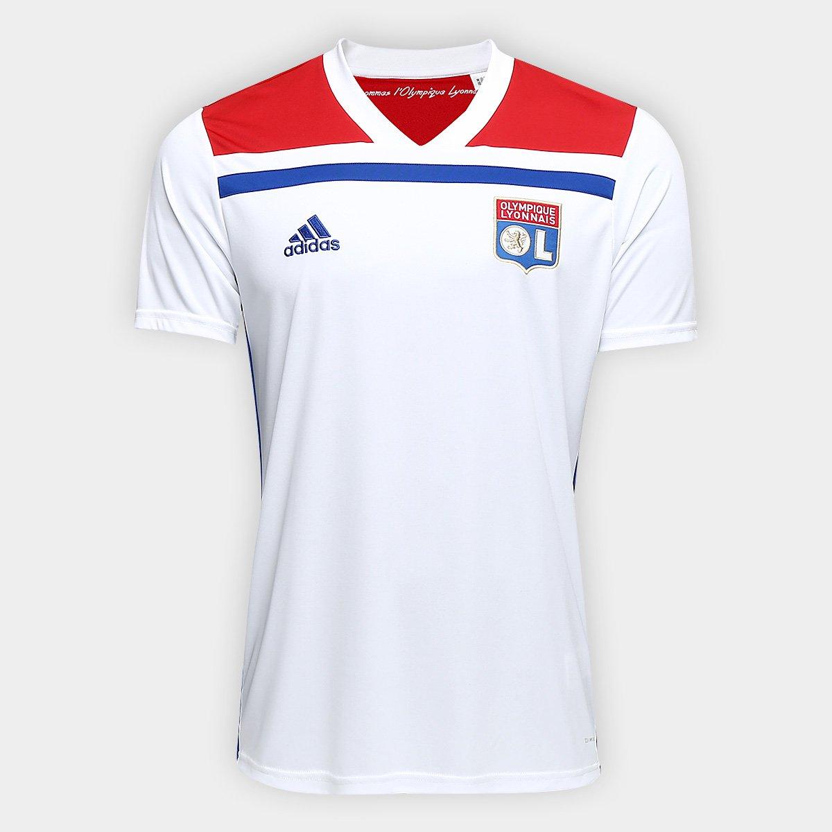 10bdc7a9e4 Camisa Lyon Home 2018 s/n° - Torcedor Adidas Masculina - Branco e Vermelho    Allianz Parque Shop