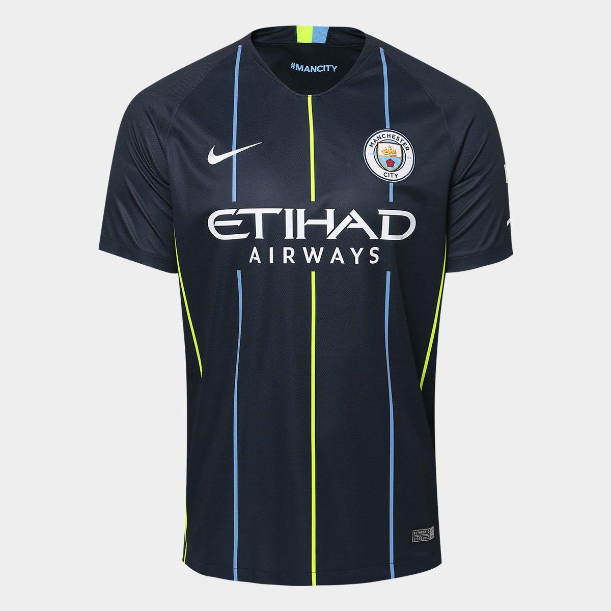 Camisa Manchester City Away 2018 s n° - Torcedor Nike Masculina ... ae1c5dc8ba1fd