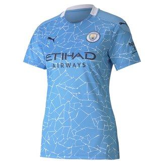 Camisa Manchester City Home 20/21 s/n° Torcedor Puma Feminina