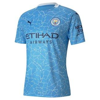 Camisa Manchester City Home 20/21 s/n° Torcedor Puma Masculina