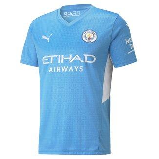 Camisa Manchester City Home 21/22 s/n° Torcedor Puma Masculina