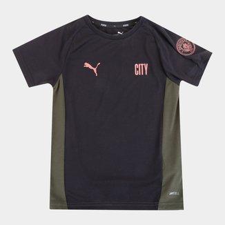 Camisa Manchester City Juvenil Treino 21/22 Puma