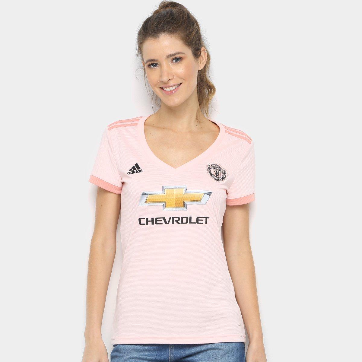 Camisa Manchester United Away 2018 s n° - Torcedor Adidas Feminina ... e59184d277988
