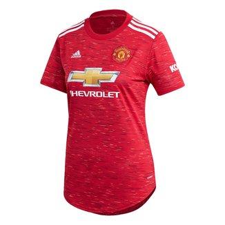 Camisa Manchester United Home 20/21 s/n° Torcedor Adidas Feminina