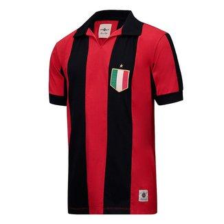 Camisa Milan Retrô Anos 80 Masculina