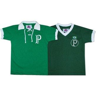 Camisa Palmeiras 1951 Liga Retrô Infantil  Verde 6 Camisa Palmeiras 1914/15 Liga Retrô Infantil  V