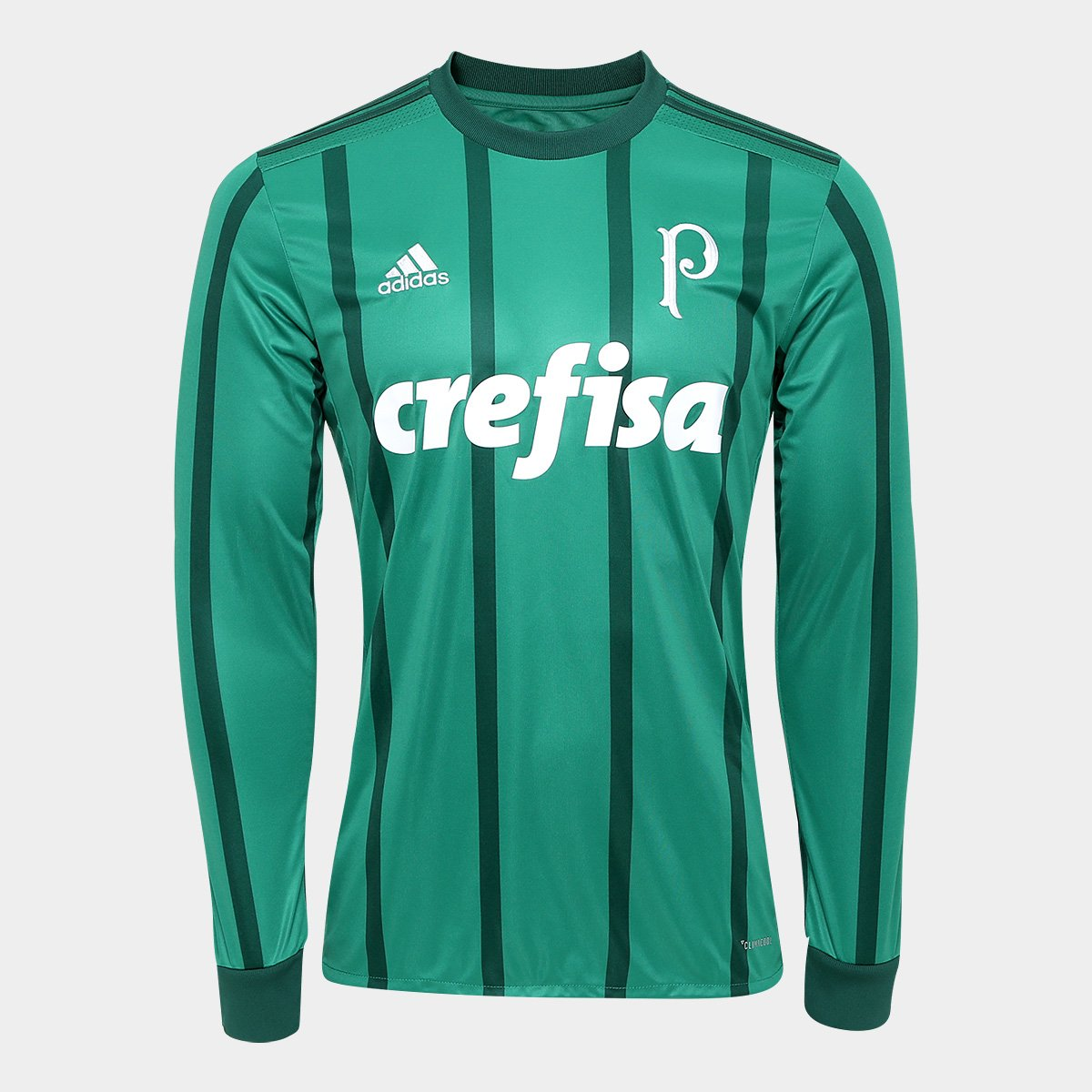 ac52713860 Camisa Palmeiras I 17/18 Manga Longa s/nº - Torcedor Adidas Masculina |  Allianz Parque Shop