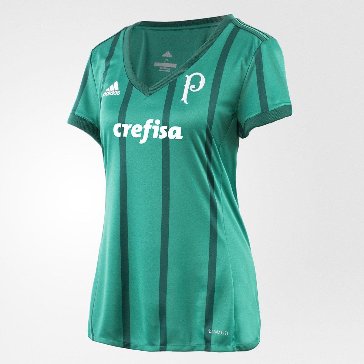 1d002a354211d Camisa Palmeiras I 17 18 s nº - Torcedor Adidas Feminina - Compre Agora
