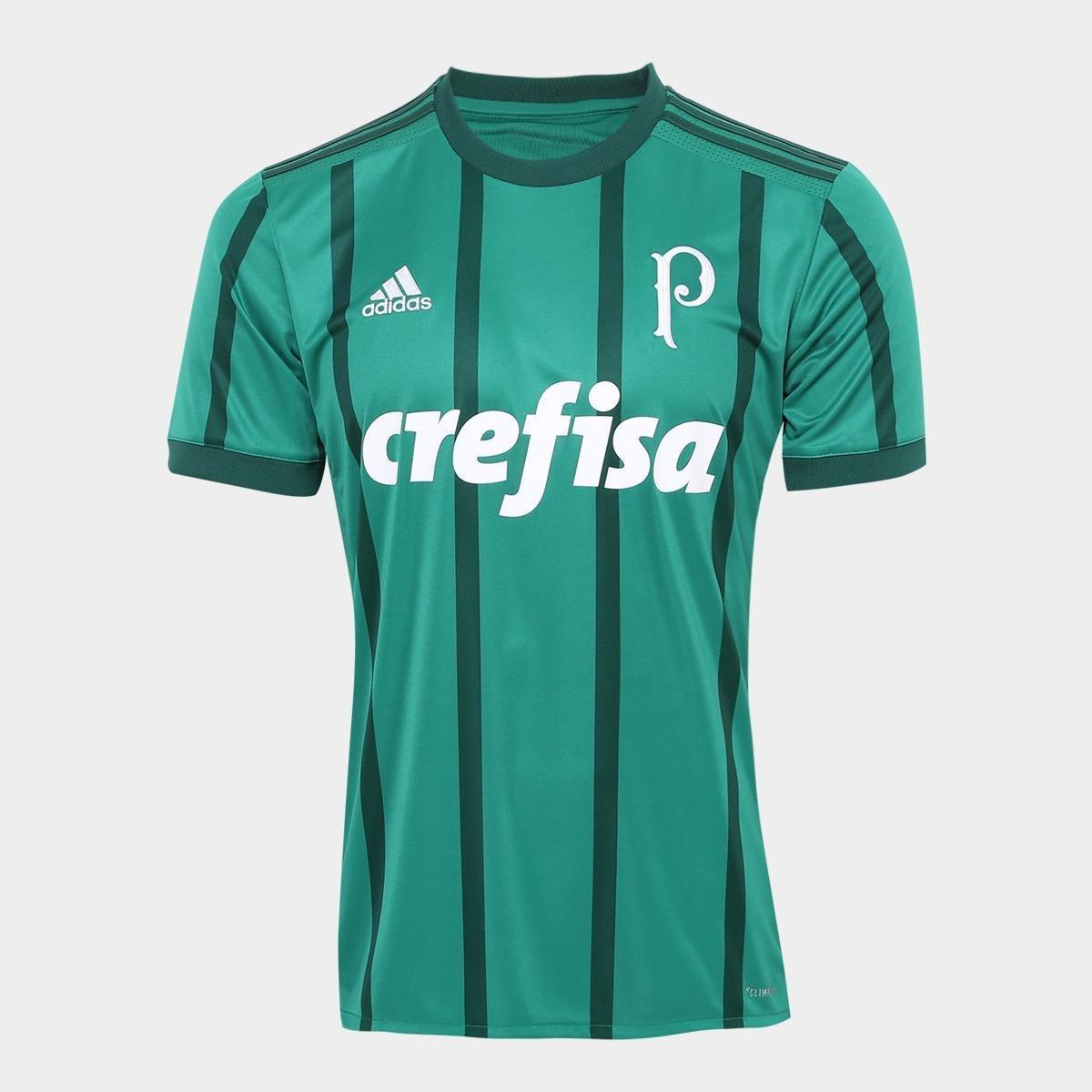 d23e2d211c8a4 Camisa Palmeiras I 17 18 s nº Torcedor Adidas Masculina - Verde - Compre  Agora