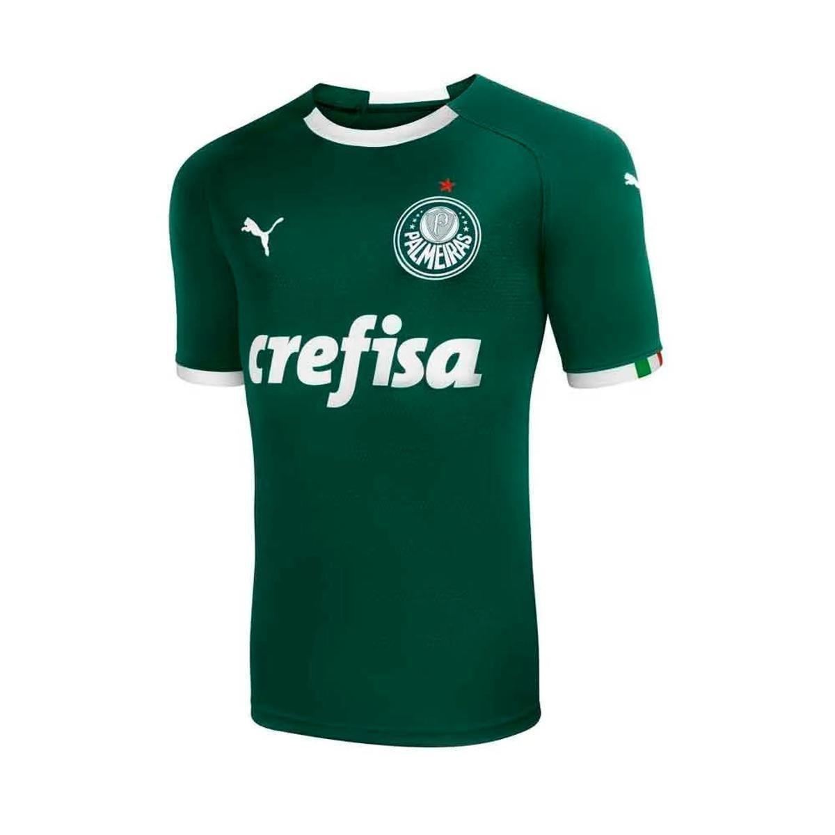 d02ba710d1f8a Camisa Palmeiras I 19 20 s n° - Torcedor Puma Masculina - Verde - Compre  Agora