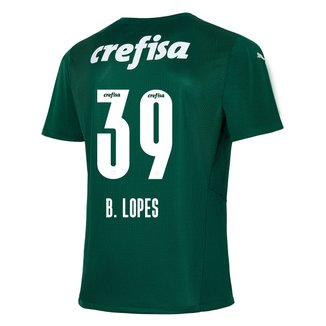 Camisa Palmeiras I 21/22 B. Lopes N° 39 Torcedor Puma Masculina
