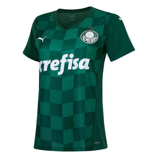 Camisa Palmeiras I 21/22 s/n° Torcedor Puma Feminina - Verde