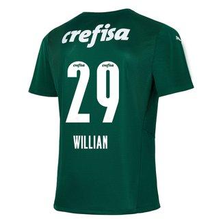 Camisa Palmeiras I 21/22 Willian Nº 29 Torcedor Puma Masculina