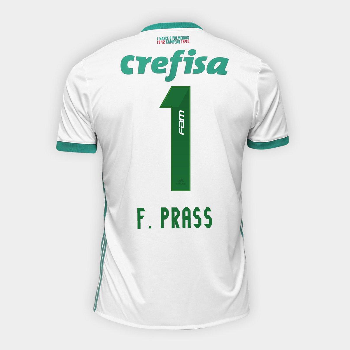 8a52522d088bc Camisa Palmeiras II 17 18 nº 1 - F. Prass Torcedor Adidas Masculina -  Compre Agora