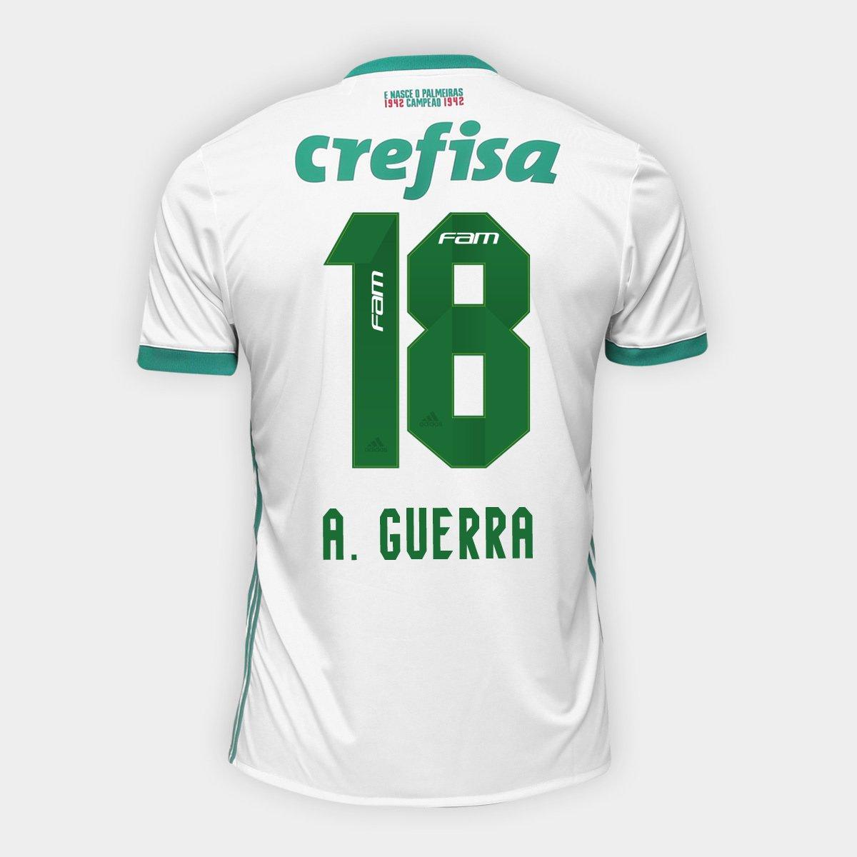 69386a734313d Camisa Palmeiras II 17 18 nº 18 A. Guerra Torcedor Adidas Masculina -  Compre Agora