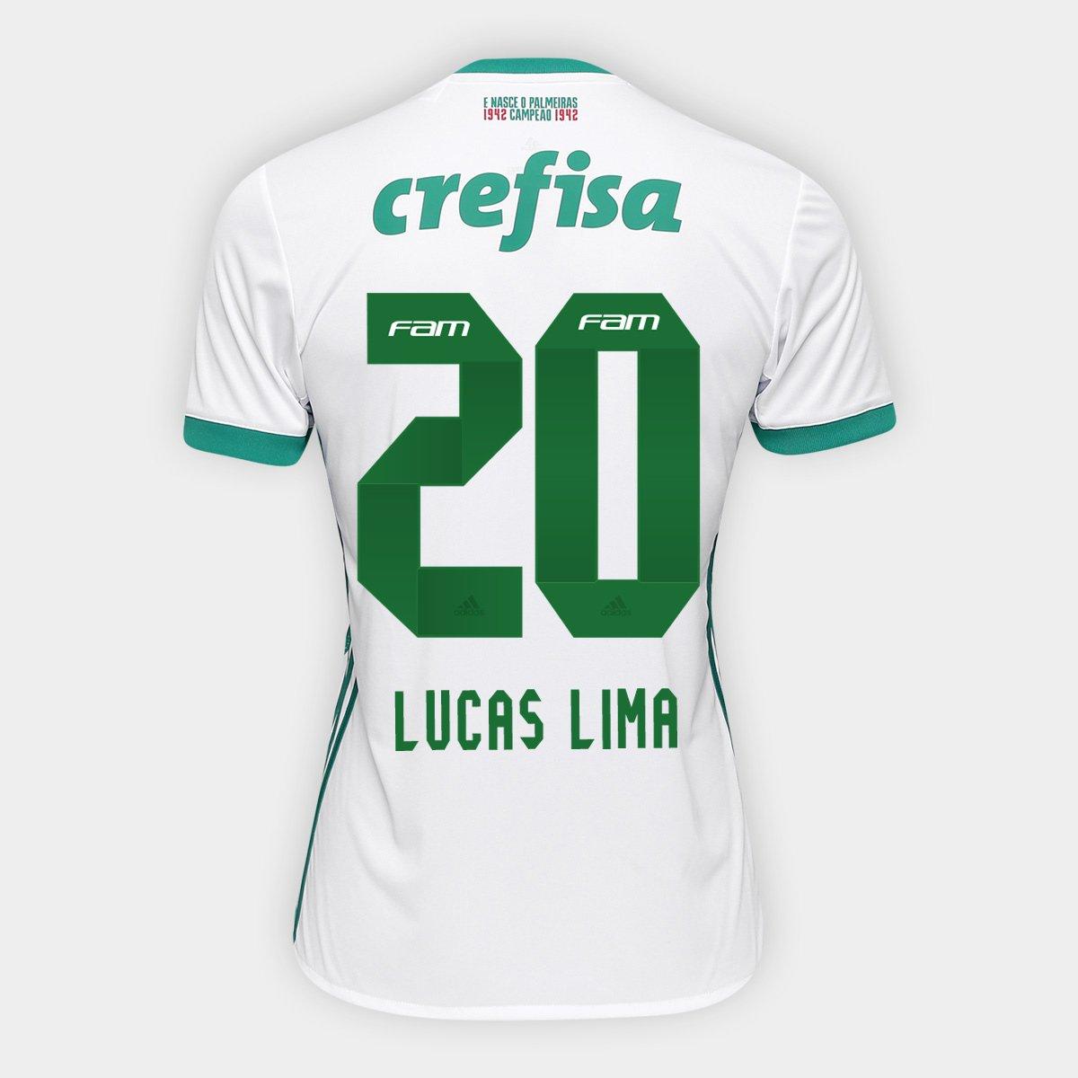 b3ab4438862f2 Camisa Palmeiras II 17 18 nº 20 - Lucas Lima Adidas Masculina - Compre  Agora