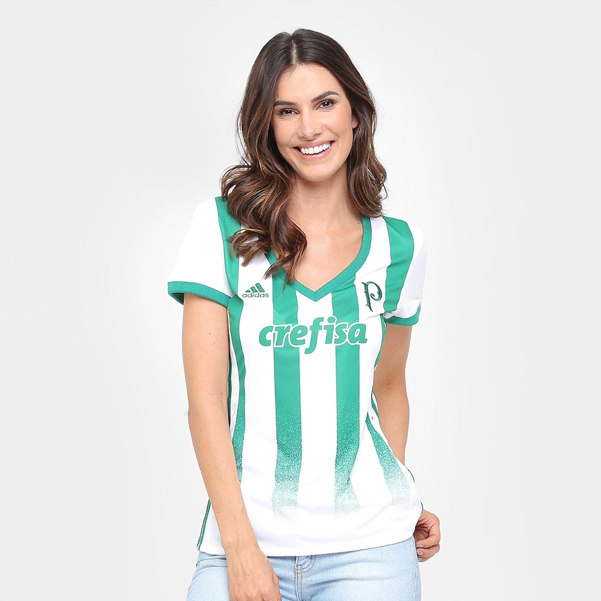 3238795d52 Camisa Palmeiras II 17/18 s/nº Torcedor Adidas Feminina   Allianz Parque  Shop