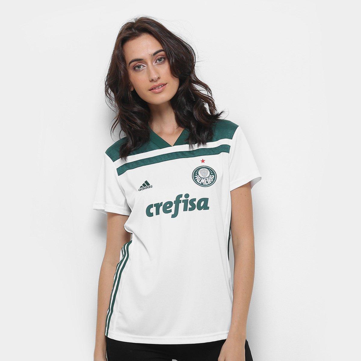 3b0a6ed04b Camisa Palmeiras II 2018 s n° Torcedor Adidas Feminina - Compre ...