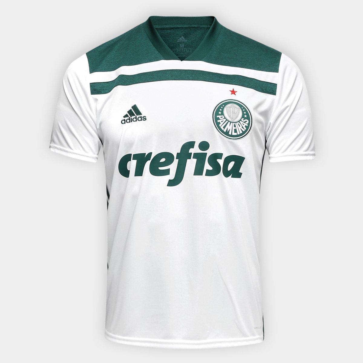 0cc22baa63 Camisa Palmeiras II 2018 s n° Torcedor Adidas Masculina - Branco e ...