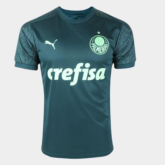 Camisa Palmeiras III 20/21 s/n° Torcedor Puma Masculina - Verde+Verde Escuro