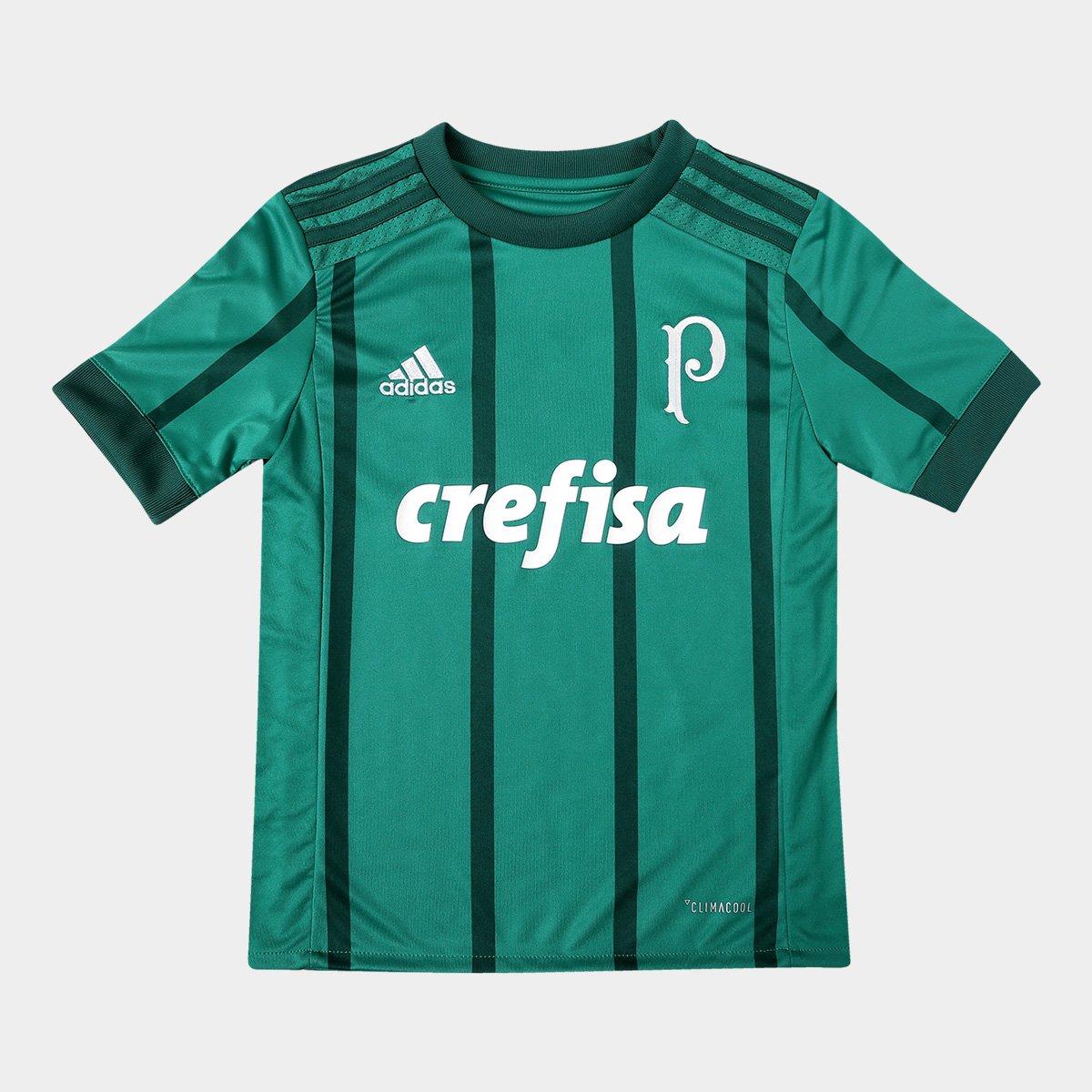 8655aa533f8fd Camisa Palmeiras Infantil I 17 18 s nº Torcedor Adidas - Verde - Compre  Agora