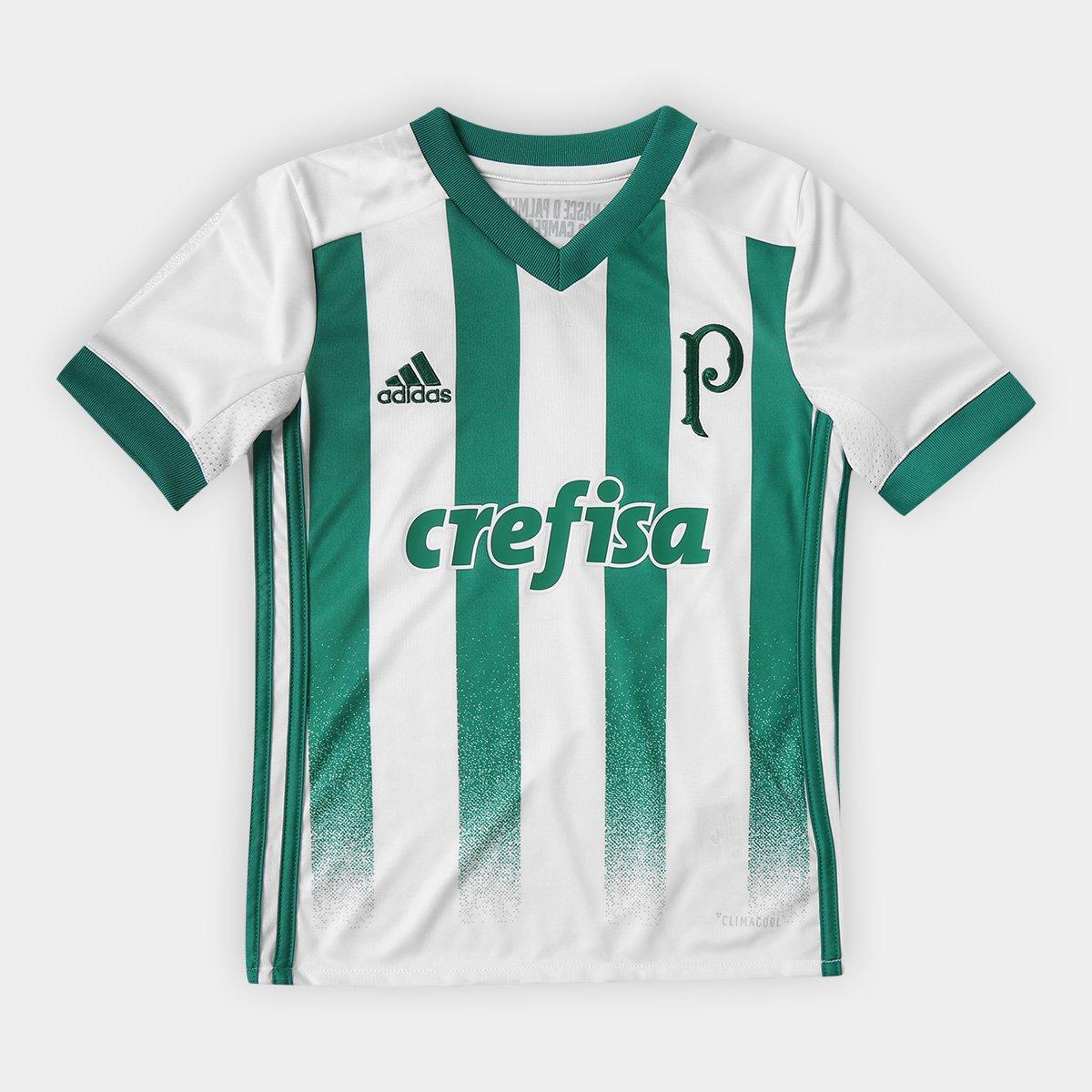 bdedc8a401 Camisa Palmeiras Infantil II 17/18 Torcedor Adidas - Branco | Allianz  Parque Shop