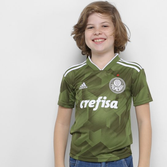 Camisa Palmeiras Infantil III 2018 s/n° - Torcedor Adidas - Verde