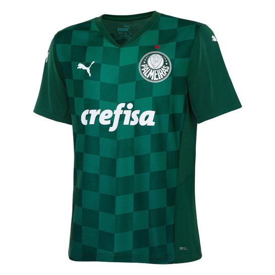 Camisa Palmeiras JuveniI I 21/22 s/n° Torcedor Puma - Verde