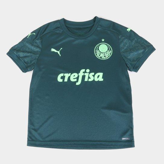 Camisa Palmeiras Juvenil III 20/21 s/n° Torcedor Puma - Verde+Verde Escuro