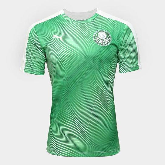 Camisa Palmeiras Pré-Jogo 20/21 Puma Masculina - Verde+Branco