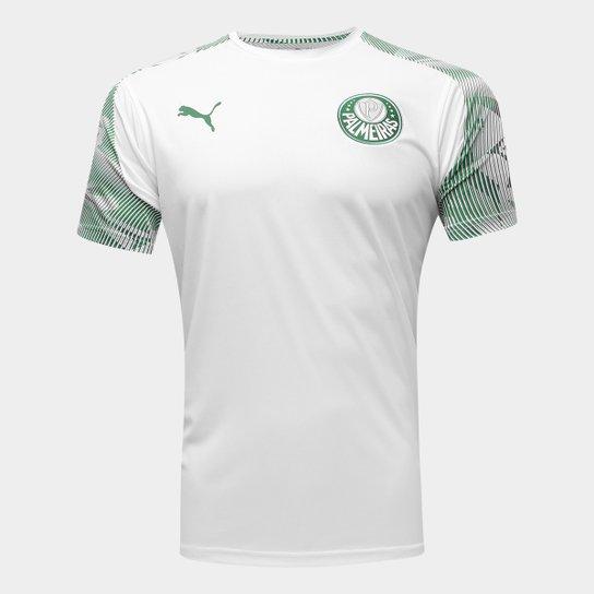 Camisa Palmeiras Treino 20/21 Puma Masculina - Branco+Verde