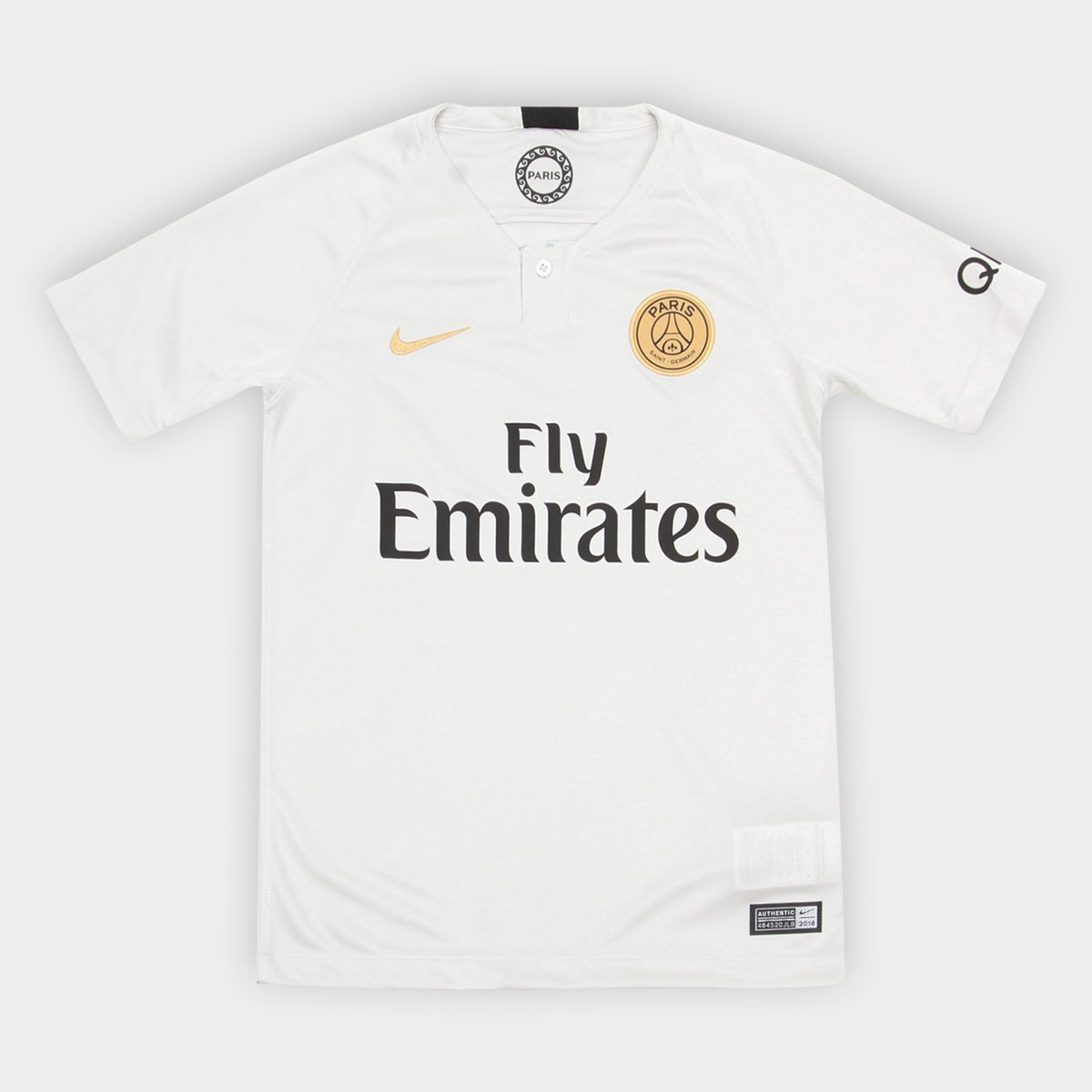 cc646fa89a Camisa Paris Saint-Germain Infantil Away 2018 s/n° - Torcedor Nike - Off  White | Allianz Parque Shop