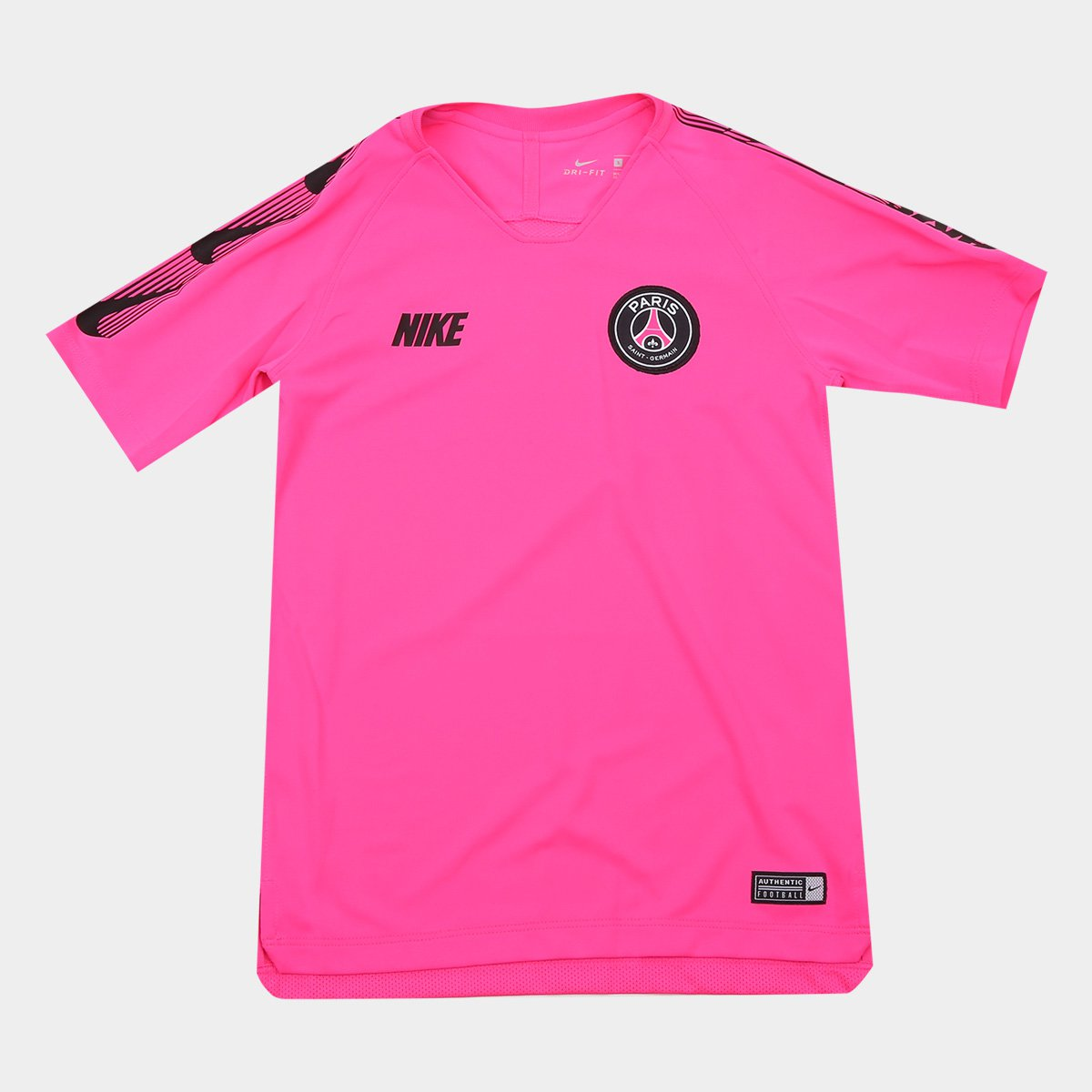 05f4b96b9a Camisa Paris Saint-Germain Infantil Treino 19/20 Nike - Pink e Preto |  Allianz Parque Shop