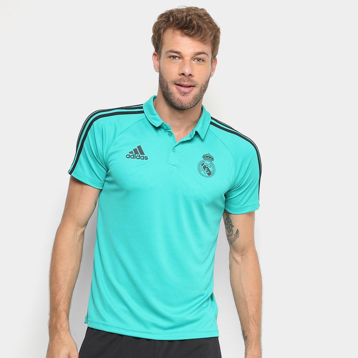 Camisa Polo Adidas Real Madrid Viagem Masculina - Compre Agora ... 4891696963f46