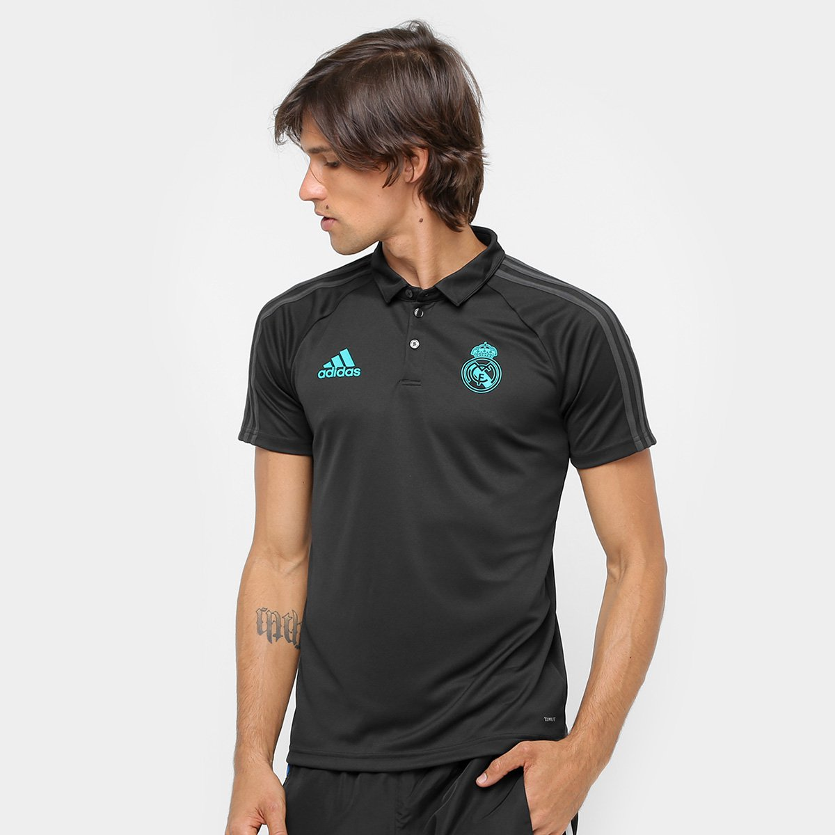 tornillo ensalada Completo  Camisa Polo Adidas Real Madrid Viagem | Allianz Parque Shop