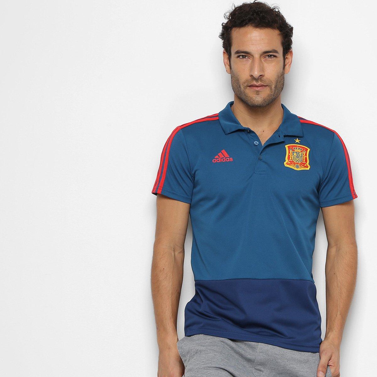 Camisa Polo Espanha Adidas Masculina - Compre Agora  2e8e780fbdcd7