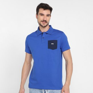 Camisa Polo Fatal Com Bolso Masculina