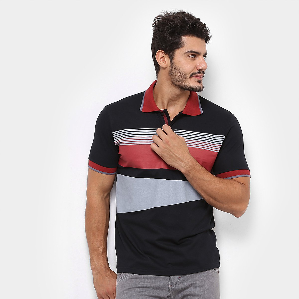 055c0538bb Camisa Polo GONEW Authentic Masculina - Compre Agora