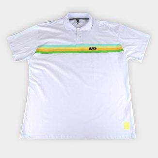 Camisa Polo HD Plus Size Listrada Masculina