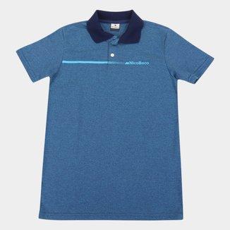 Camisa Polo Juvenil Nicoboco Pack Masculina