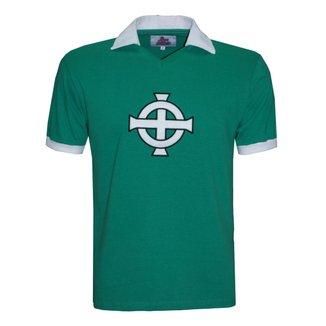 Camisa Polo Liga Retrô Irlanda do Norte 1978 Masculina