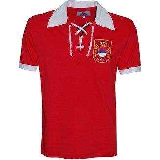 Camisa Polo Liga Retrô Sérvia 1930 Masculina