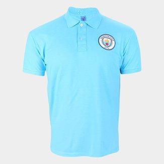 Camisa Polo Manchester City Básica Piquet Masculina