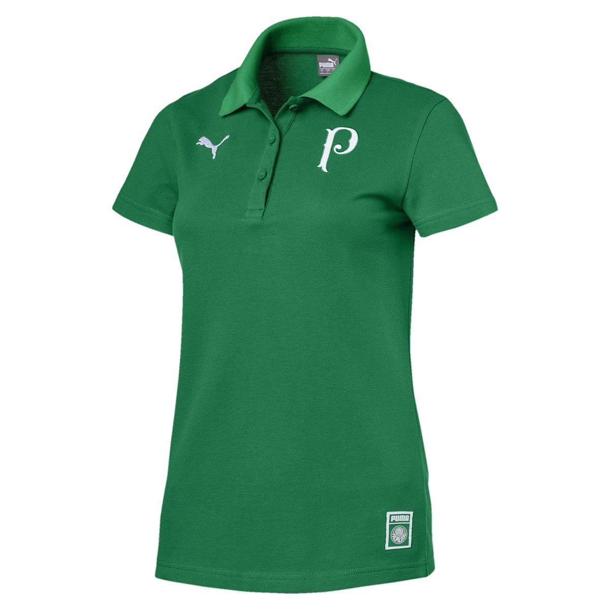 cc71466d3374a Camisa Polo Palmeiras 19 20 Puma Feminina - Verde - Compre Agora ...