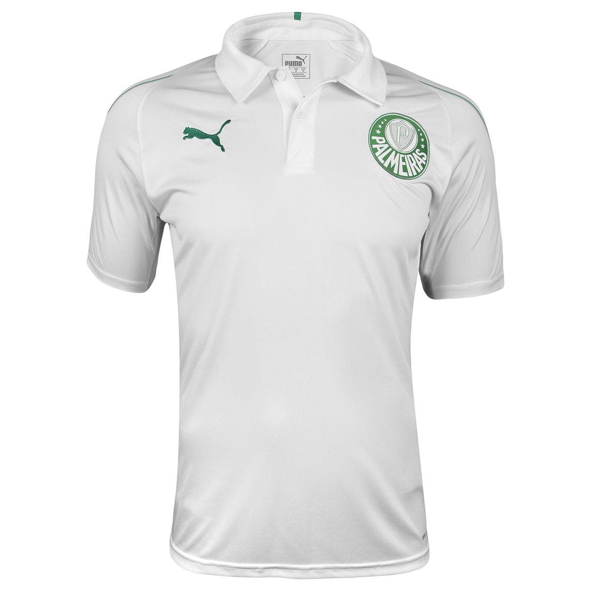 Camisa Polo Palmeiras 19 20 Puma Masculina - Branco - Compre Agora ... 2c55b08f9d3c2