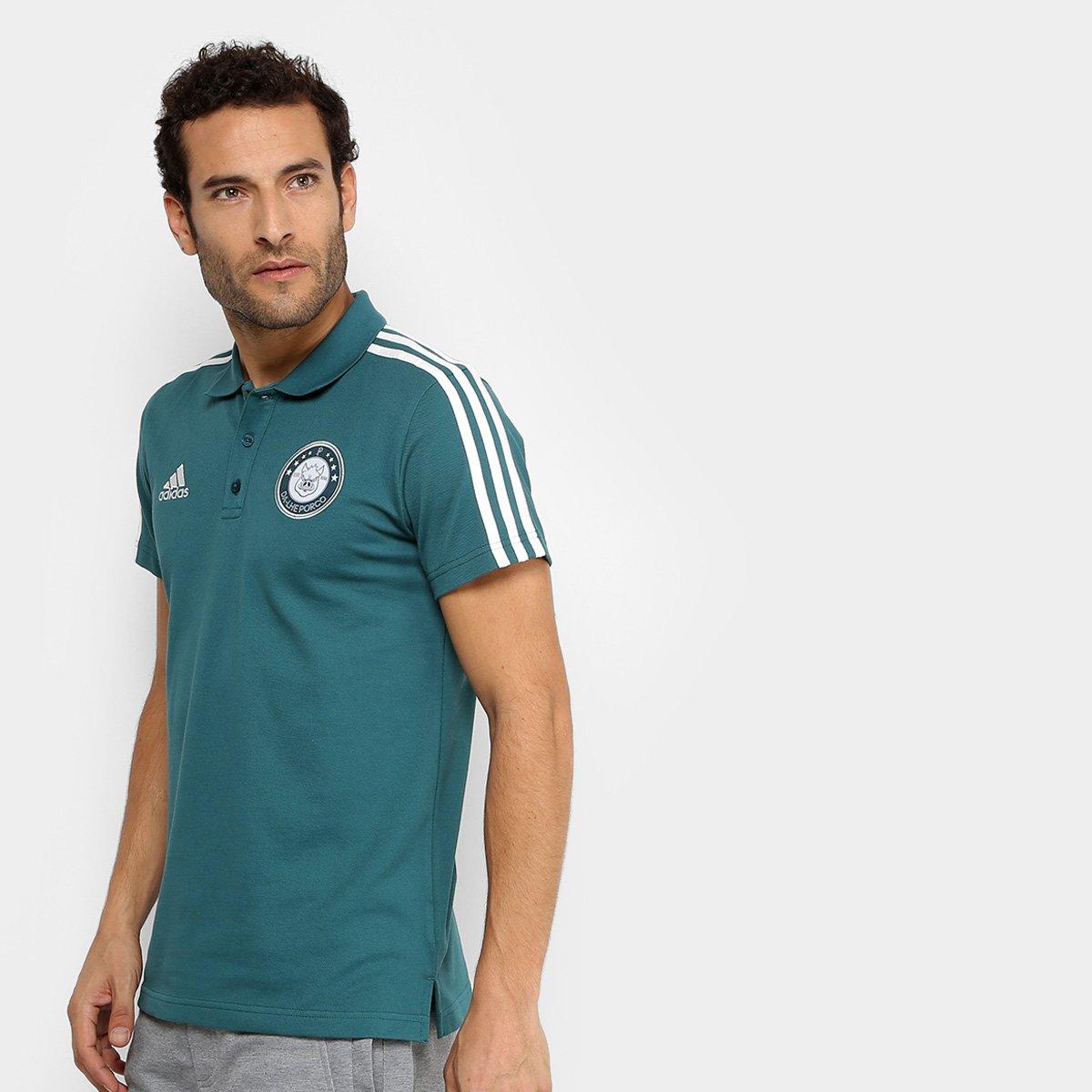 Camisa Polo Palmeiras 3S Adidas Masculina - Verde - Compre Agora ... 8208d2baa23e7